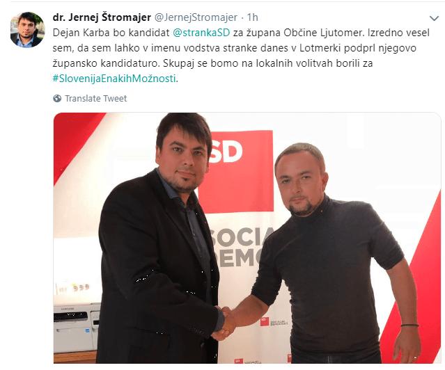 Novinar Karba za SD kandidira za župana