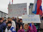 Protesti pred DZ: Po ZDA in Izraelu ne Marakešu še v Avstraliji