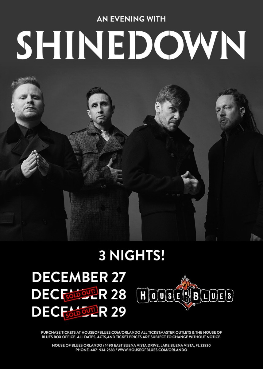 An Intimate Evening with Shinedown @ House Of Blues Orlando