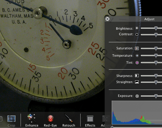 Heads Up Displays in iPhoto