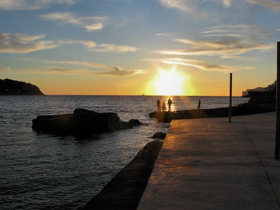 Mallorcan fisherman at sunset