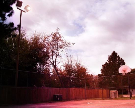 Basketball court by Del Larkin-Smith