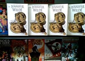 Jennifer Wilde issue 1 on the shelves of SubCity in Dublin