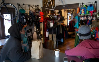 In the town of Bend is Crows Feet Commons where they do a little bit of everything from coffee to bikes to splitboards