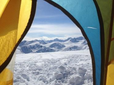 Tent view April, 2014