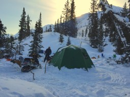 Basecamp included a luxurious arctic oven and propane heater. - Trevor Grams