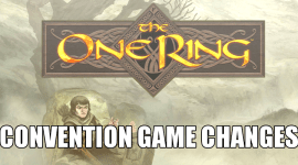 CONtent: Changes to The One Ring for a Convention Game