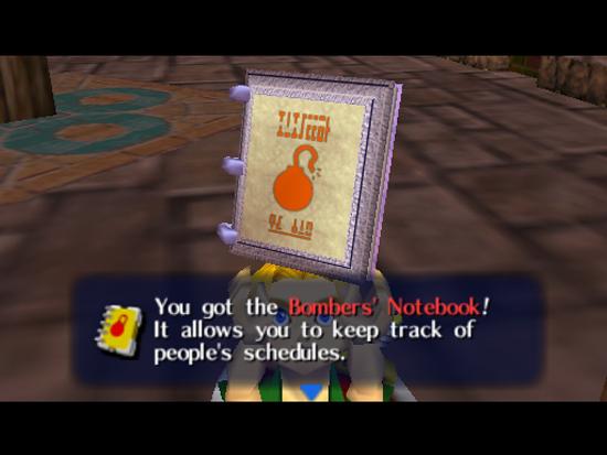 Majora's Mask Bomber's Notebook