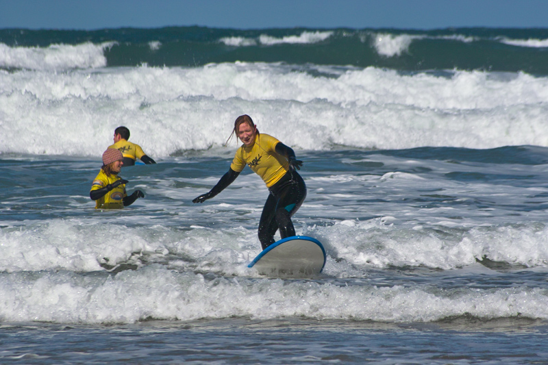 Learning to Surf in Cornwall