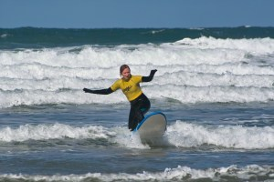Just catchin' some waves