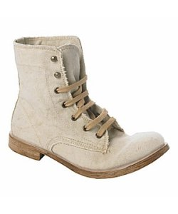 Canvas Lace Up Boots from New Look - £35