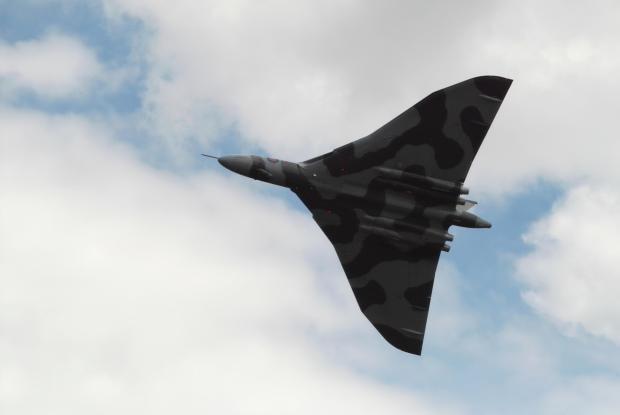 Vulcan Bomber at the Waddington Airshow 2010
