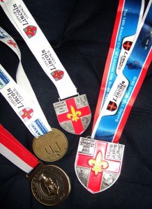 City of Lincoln 10k Road Race Medals