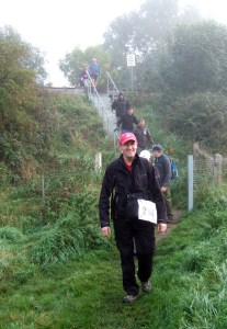 Crossing the railway at Washingborough
