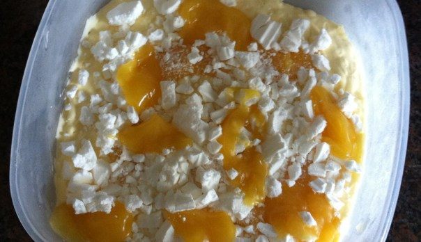 Making Lemon Meringue Ice Cream