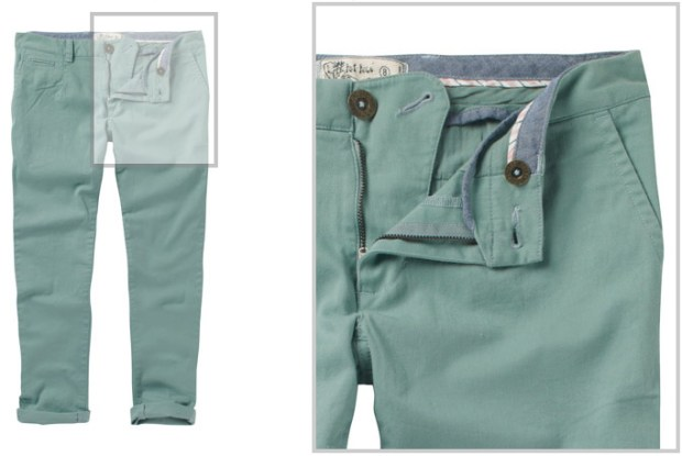 FatFace Tapered Chinos in Green Haze