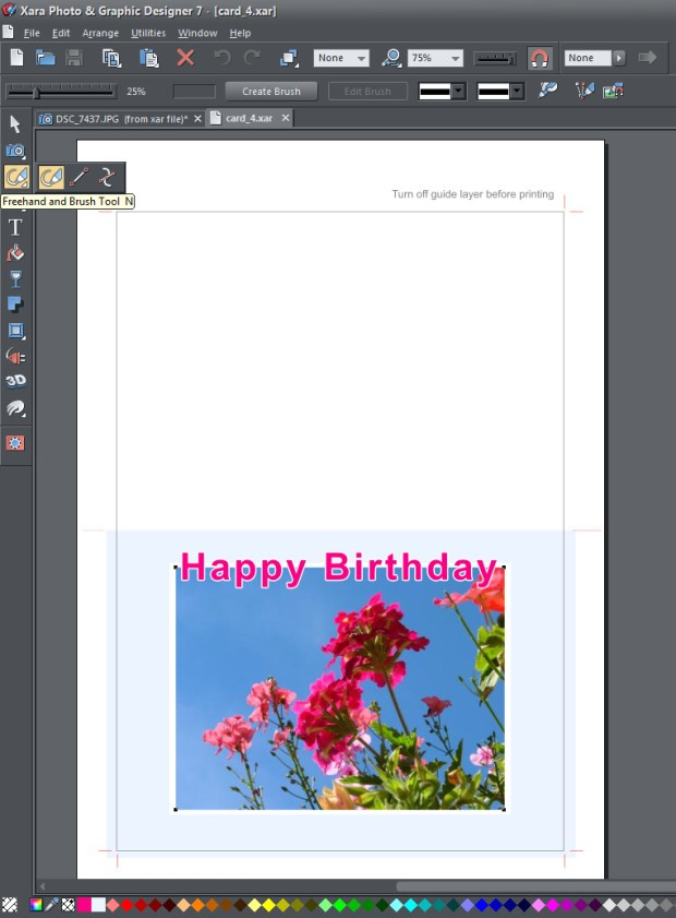 Xara Photo and Graphic Designer Screenshot