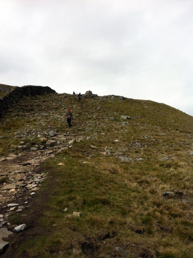 Yorkshire Three Peaks Challenge - Walking down Whernside