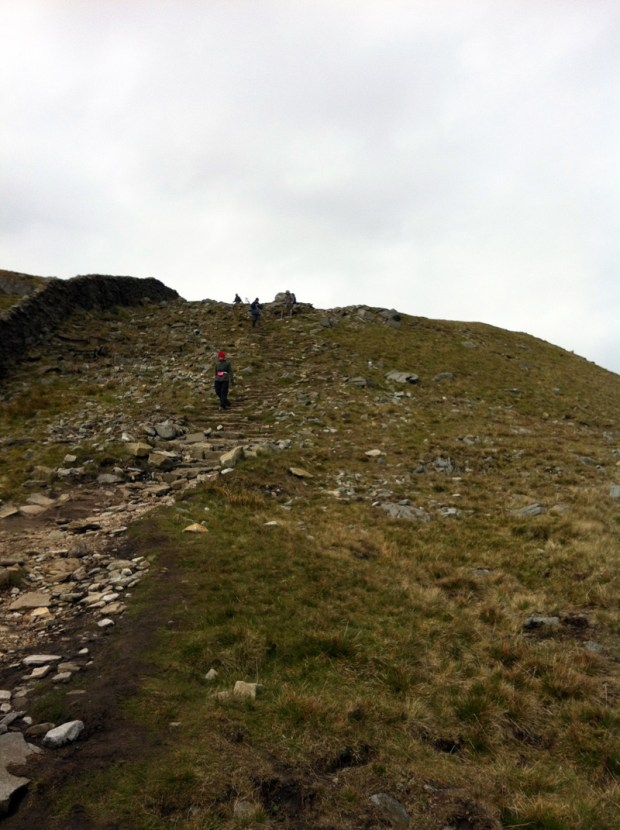 Yorkshire Three Peaks Challenge - Walking down Whernside