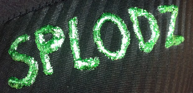 Splodz Moonwalk Bra 3D Glitter Paint