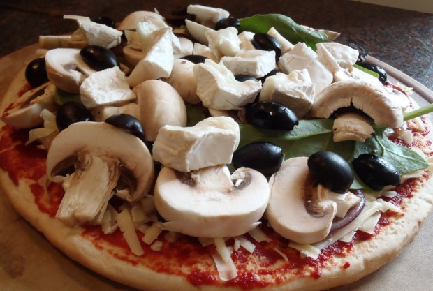 Goats Cheese Pizza - My Husband's