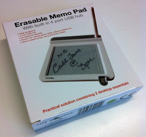 Erasable Memo Pad & USB Hub