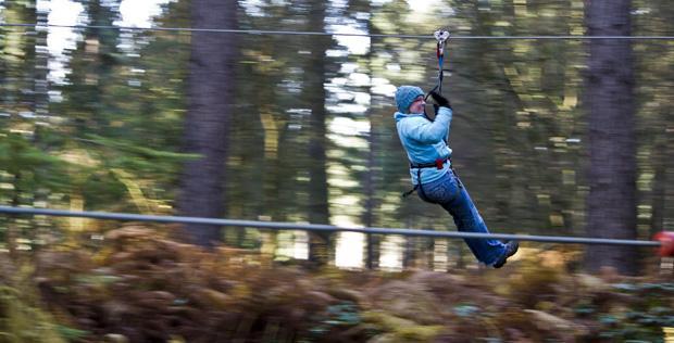 Go Ape, Sherwood Pines, Zip Wire