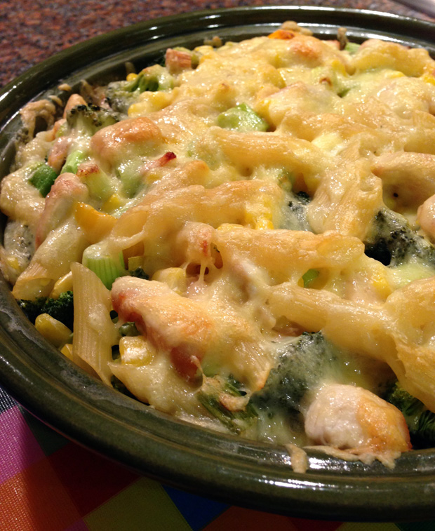 Yellow and Green Pasta Bake