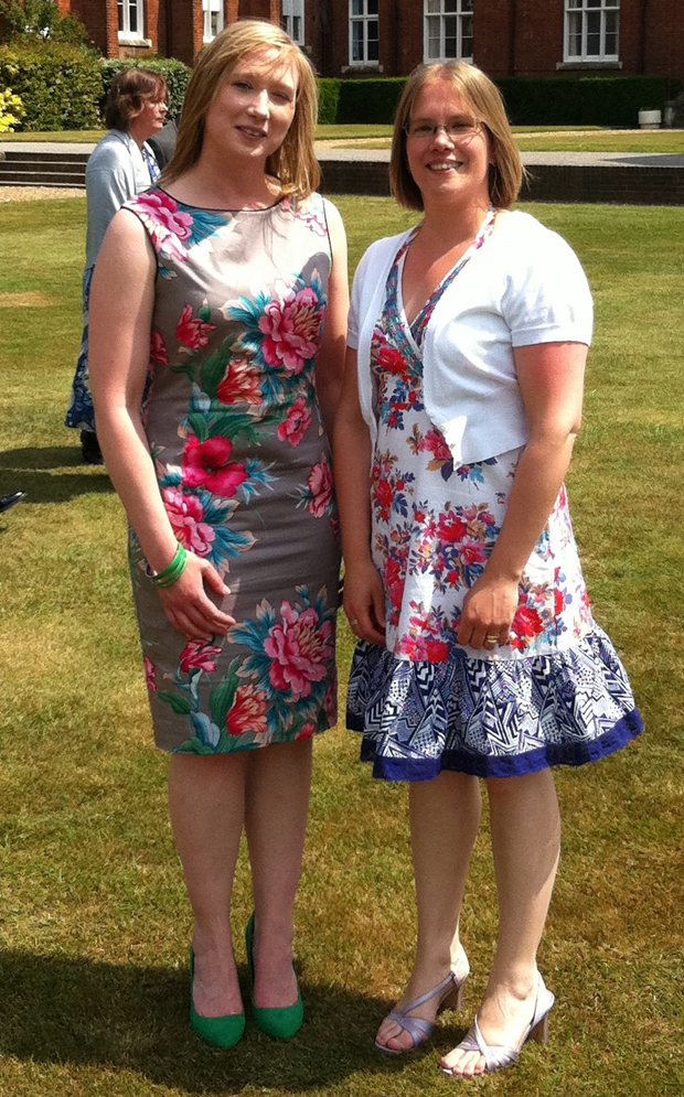 Me with my sister at my bro-in-law's wedding.