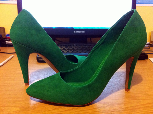 Green Suede Shoes from Zara