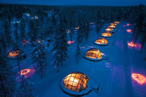Glass Igloos at Hotel Kakslauttanen