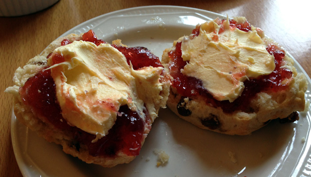 Scone, Cream and Jam at Stoke Rochford Hall