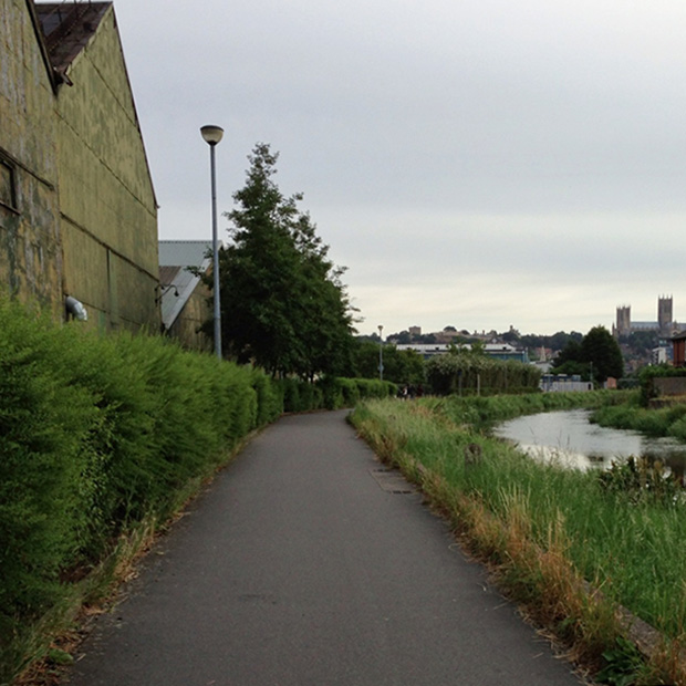My Cycle Ride to Work - River Path