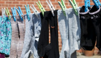 Socks Hanging on the Line