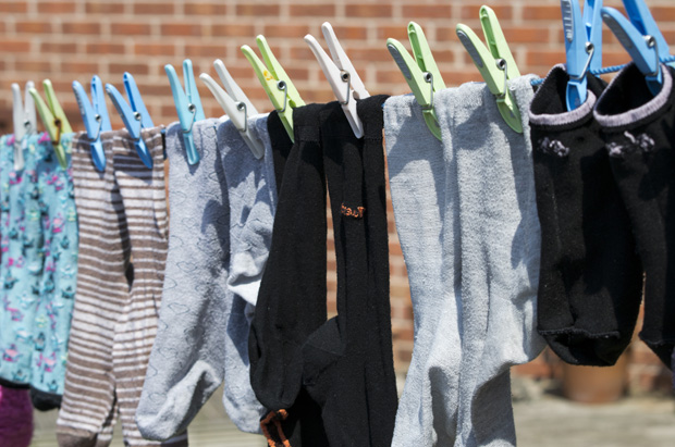 Socks Hanging on the Line