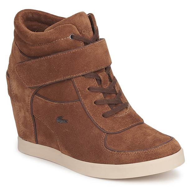 Lacoste Wedge Trainers in Tan