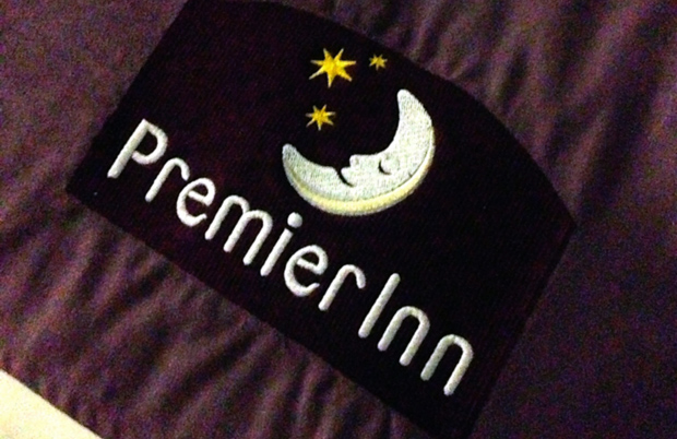 Premier Inn Logo on Bed
