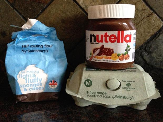 Nutella Brownie Ingredients
