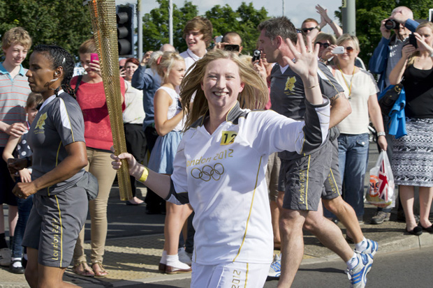 Olympic Torchbearer in Lincoln, 27 June 2012