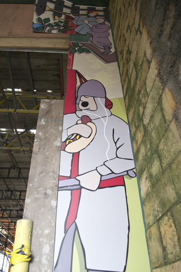 Lincolnshire Sausage Festival - Castle Mural