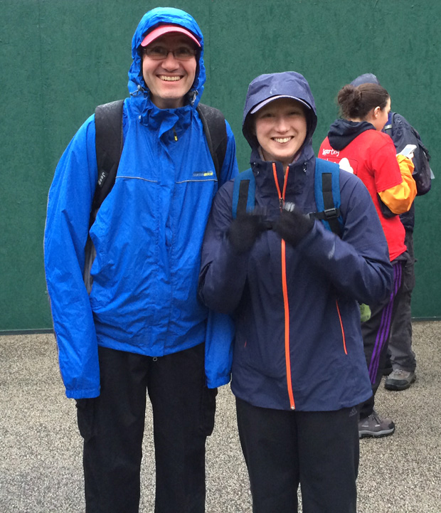 With Mark at the start of Spires and Steeples 2013