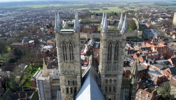 The view from the tower at Lincoln Cathedral