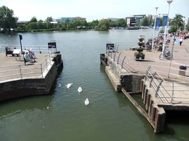 Brayford Pool on a hot and sunny Monday lunchtime