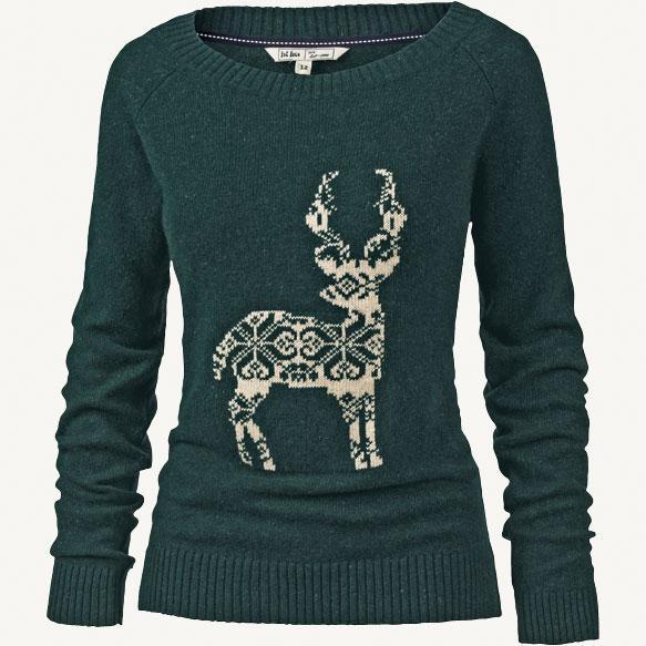 Phoebe Lurex Reindeer Jumper from FatFace