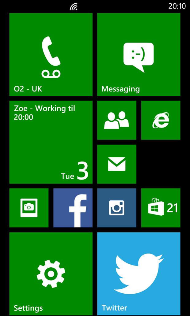 Nokia Lumia 925 Home Screen