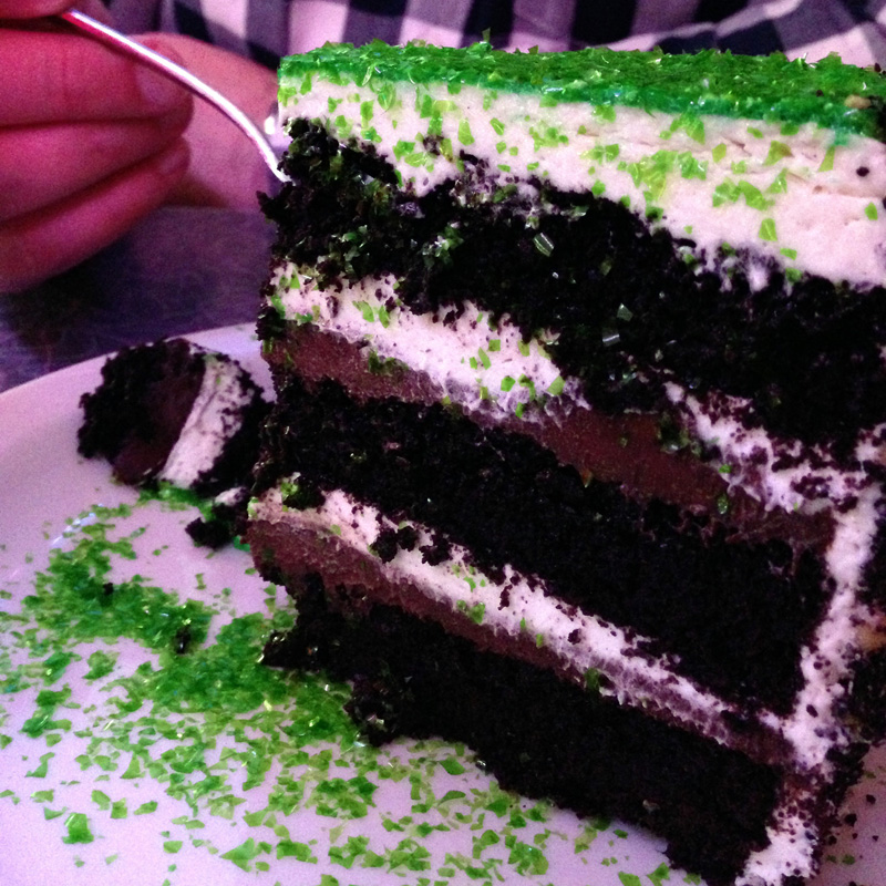 """Wicked"" Cake from Ellen's Stardust Diner"