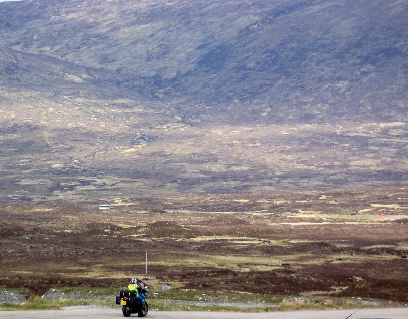 Riding across Glencoe, Scotland