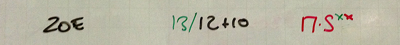 My Score for WOD 23/04/14