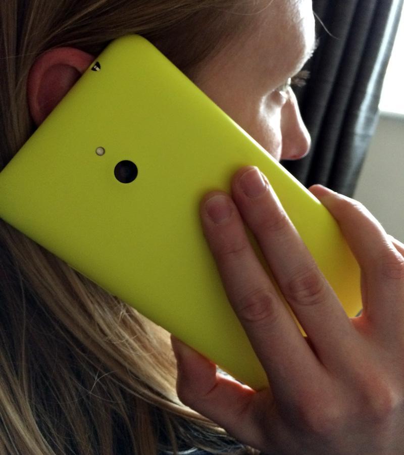 Holding the Nokia Lumia 1320