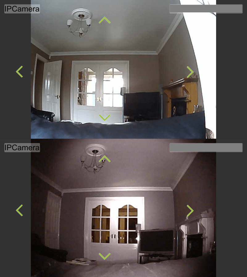 WatchBot Normal vs Infra-Red Example - Lounge